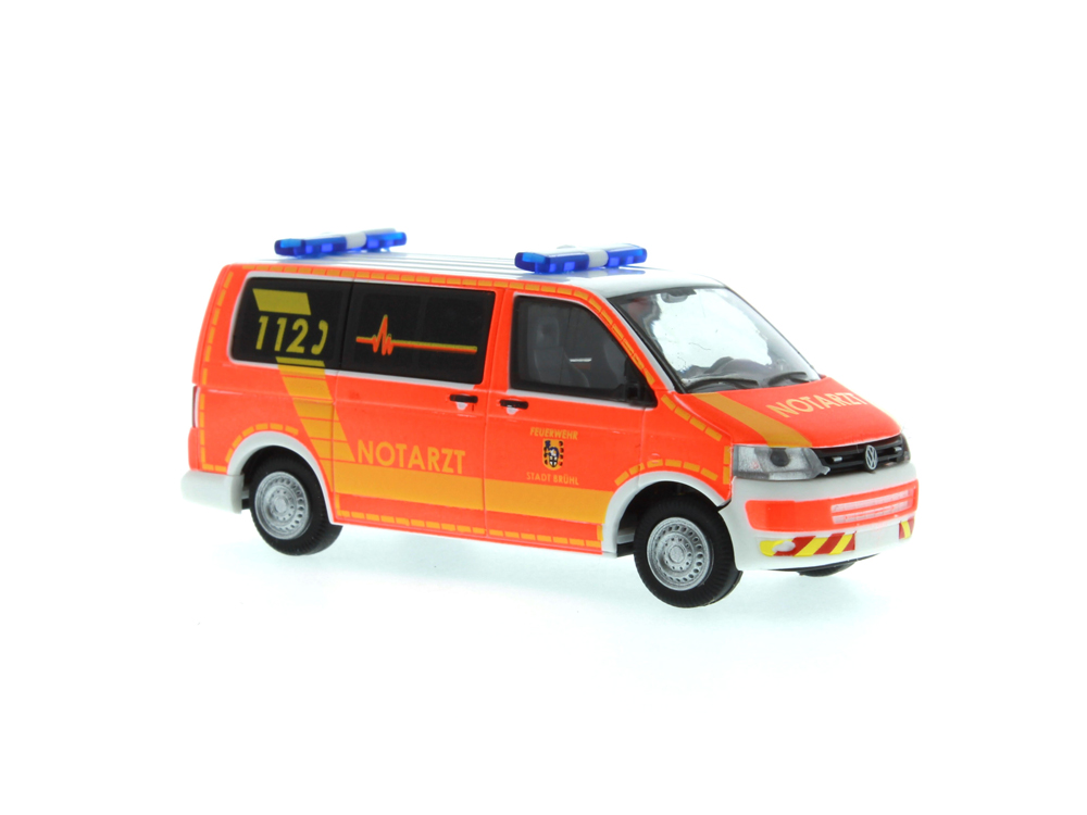 Rietze VW T5 Bus Hornis Silver Rettungsdienst Barnim