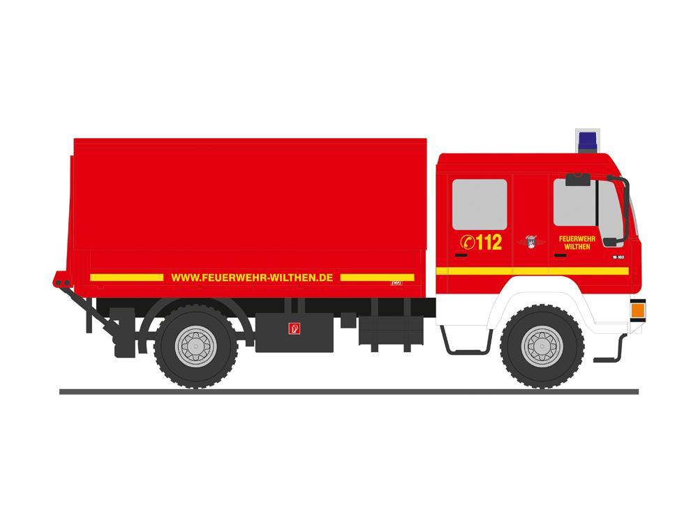 Herpa MAN M 2000 Löschfahrzeug HLF 20 Feuerwehr unbedruckt 092913