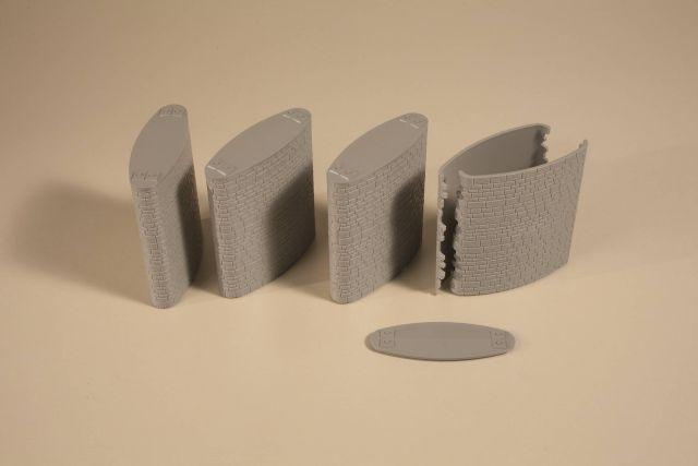 je 10 x 20 cm H0//TT Auhagen 52223 2 Fußsteigplatten grau