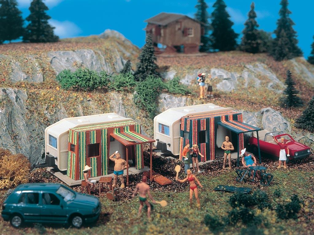Vollmer 5147 Wohnwagen caravan  2 Stück Spur H0 OVP 1:87